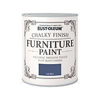 Rust-Oleum Chalky Furniture Paint Ink Blue 750ml