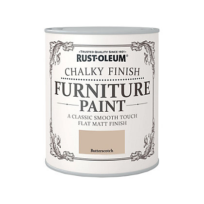 Image for Rust-Oleum Chalky Furniture Paint Butterscotch 750ml from StoreName