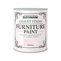 Rust-Oleum Chalky Furniture Paint China Rose 750ml