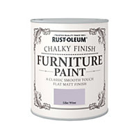Rust-Oleum Chalky Furniture Paint Lilac Wine 750ml