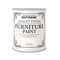 Rust-Oleum Chalky Furniture Paint Chalk White 2.5L