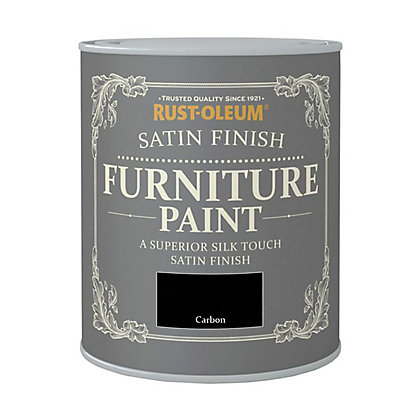 Image for Rust-Oleum Satin Furniture Paint Carbon 125ml from StoreName