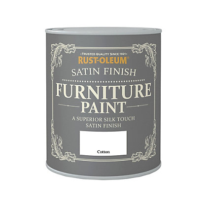 Image for Rust-Oleum Satin Furniture Paint Cotton 750ml from StoreName