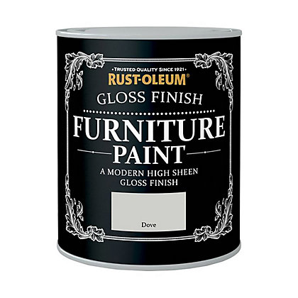 Image for Rust-Oleum Gloss Furniture Paint Dove 125ml from StoreName