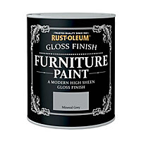Rust-Oleum Gloss Furniture Paint Mineral Grey 125ml