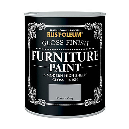 Image for Rust-Oleum Gloss Furniture Paint Mineral Grey 125ml from StoreName