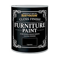 Rust-Oleum Gloss Furniture Paint Liquorice 125ml