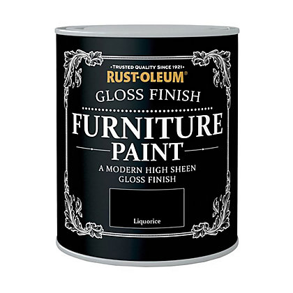 Image for Rust-Oleum Gloss Furniture Paint Liquorice 125ml from StoreName