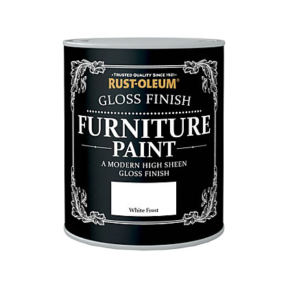 Image for Rust-Oleum Gloss Furniture Paint White Frost 750ml from StoreName