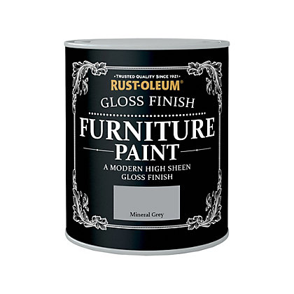 Image for Rust-Oleum Gloss Furniture Paint Mineral Grey 750ml from StoreName