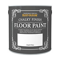 Rust-Oleum Chalky Floor Paint Chalk White 2.5L
