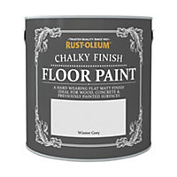 Rust-Oleum Chalky Floor Paint Winter Grey 2.5L