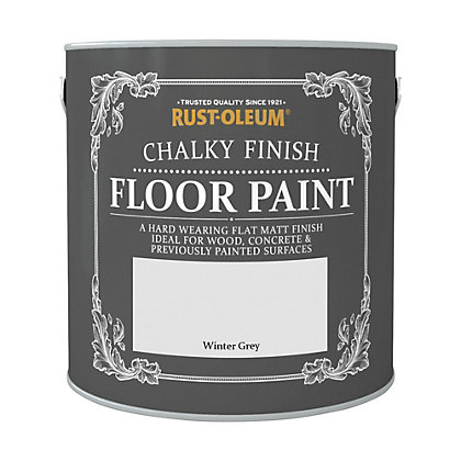 Image for Rust-Oleum Chalky Floor Paint Winter Grey 2.5L from StoreName