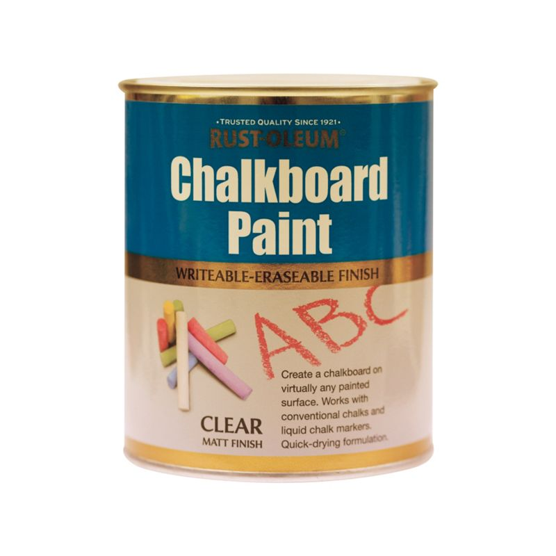 Rust oleum chalkboard finish clear 750ml for Chalkboard appliance paint