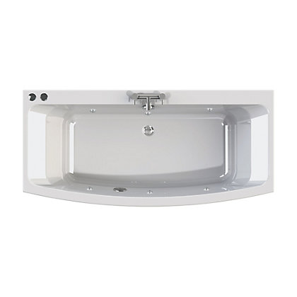Image for Olney Bow Double Ended Bath - Silver Whirlpool from StoreName