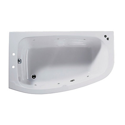 Image for Tranquil Corner Shower Bath - Left Hand - Silver Whirlpool from StoreName