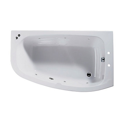 Image for Tranquil Corner Shower Bath - Right Hand - Silver Whirlpool from StoreName