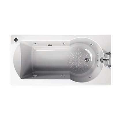 Image for Buttermere Straight Shower Bath - 1700 - Gold Whirlpool from StoreName