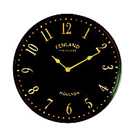 Black Stable Clock 28cm