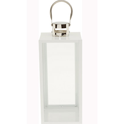 Image for White Metal Lantern - Medium from StoreName