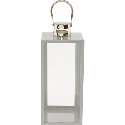 Image for Grey Metal Lantern - Large from StoreName
