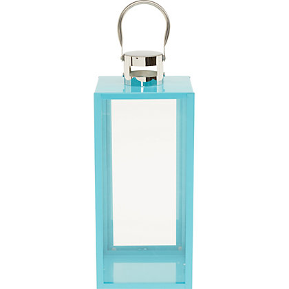 Image for Blue Metal Lantern - Large from StoreName
