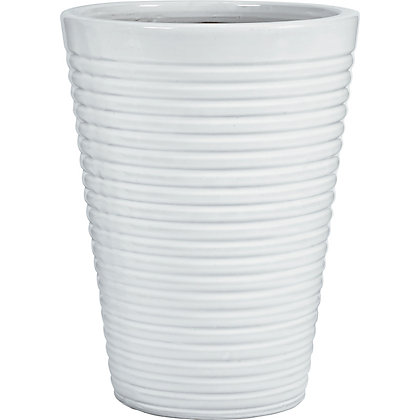 Image for Beryl Glazed Ceramic White Planter - 37cm from StoreName