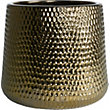 Luxor Glazed Ceramic Planter in Gold - 42cm