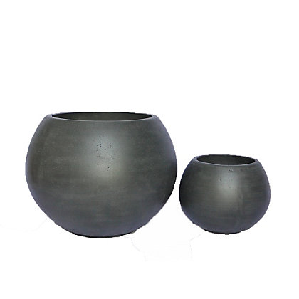 Image for Melon Black Planter - 42cm from StoreName