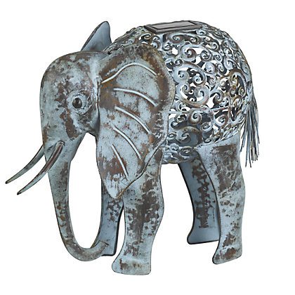 Image for Decorative Light Up Solar Elephant Garden Ornament from StoreName