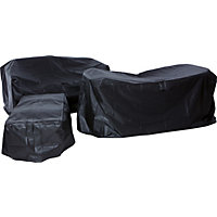 Premium Garden Sofa Set Cover - Black
