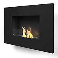 Arlington Black Bio Ethanol Fireplace