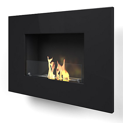 Image for Arlington Black Bio Ethanol Fireplace from StoreName
