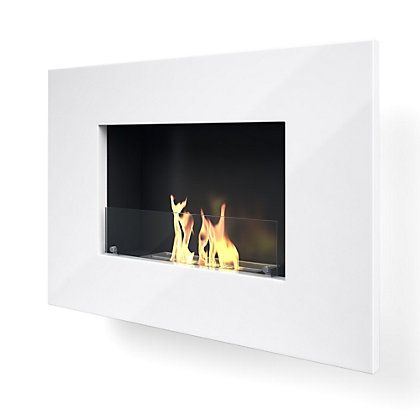 Image for Arlington White Bio Ethanol Fireplace from StoreName