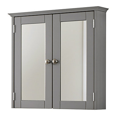 Freestanding bathroom cabinet white for Homebase kitchen cabinets