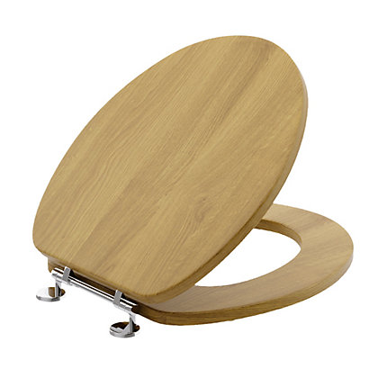 Image for Winslow Toilet Seat Oak from StoreName
