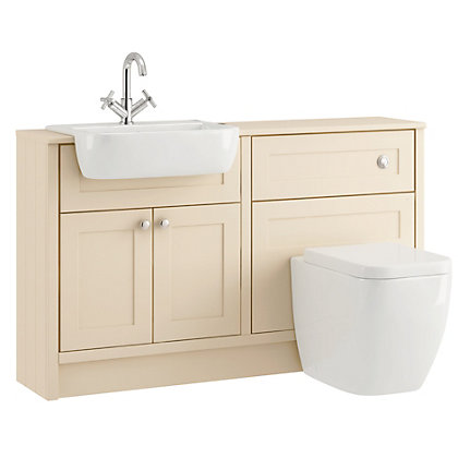Image for Schreiber Vanity Cabinet and WC Base Unit - Linen from StoreName