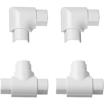 Image for D-Line Mini 30x15mm White Equal Tee & Flat Bend Accessory Pack from StoreName