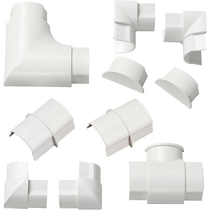 Image for D-Line 40x20mm White Accessory Multipack from StoreName