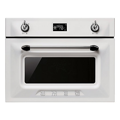 Image for Smeg SF4920MCB Victoria Compact Microwave Oven - 60cm - White from StoreName
