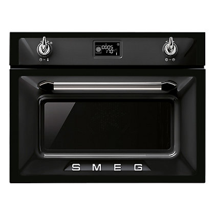Image for Smeg SF4920MCN Victoria Compact Microwave Oven - 60cm - Black from StoreName