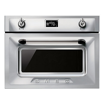 Image for Smeg SF4920MCX Victoria Compact Microwave Oven - 60cm - Stainless Steel from StoreName