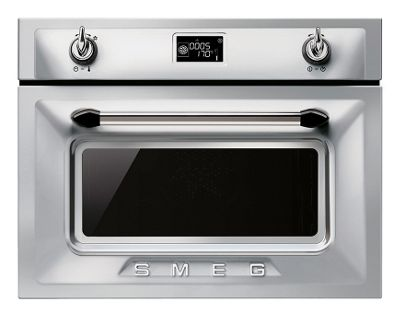 Smeg Victoria Stainless Steel Compact Microwave Oven - 60cm