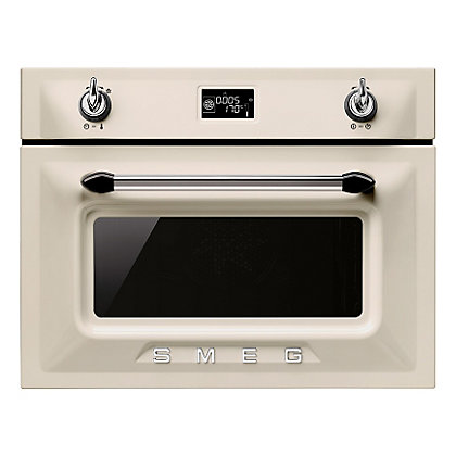 Image for Smeg Compact Combination Steam Oven - 45cm - Cream from StoreName