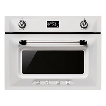 Image for Smeg White Compact Combination Steam Oven - 45cm from StoreName