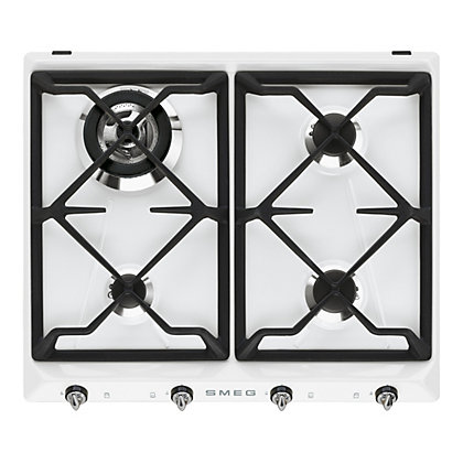 Image for Smeg SR964BGH 60CM Victoria Gas Hob - White from StoreName