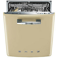 Smeg Retro 50s Style Built-in Dishwasher - Cream