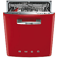 Smeg Retro 50s Style Built-in Dishwasher - Red
