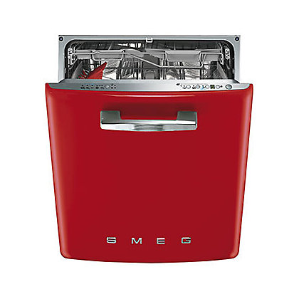 Image for Smeg Retro 50s Style Built-in Dishwasher - Red from StoreName