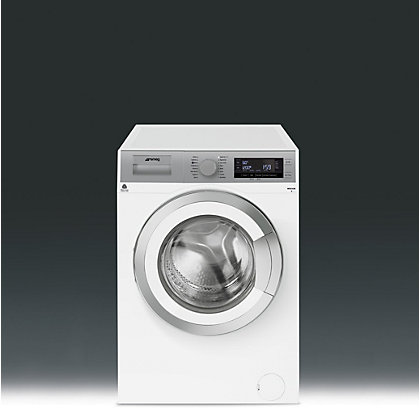 Image for Smeg WHT814LUK Freestanding Washing Machine - White and Silver from StoreName